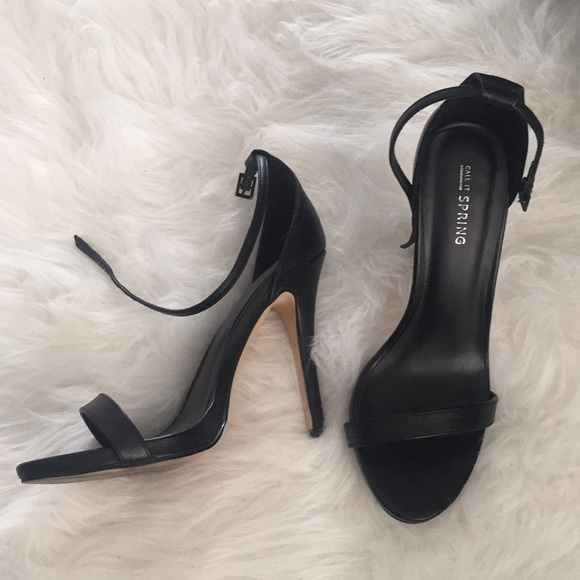 d8ad565b1f51 Call It Spring Shoes - Black Ankle Strap Heals